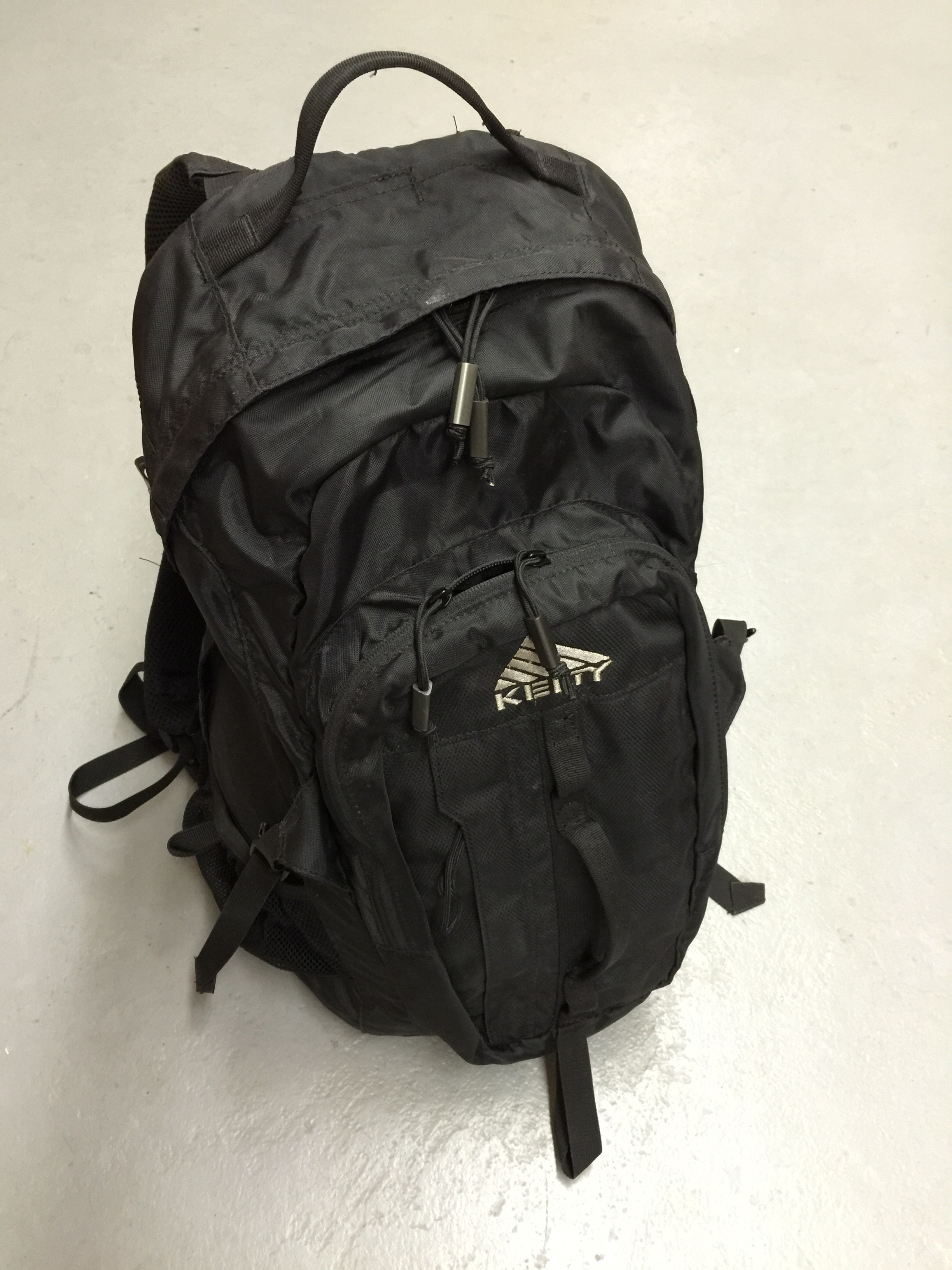 We filled this backpack with rocks, it weighed about 50 lbs. The soldiers kits came in to about 60lbs