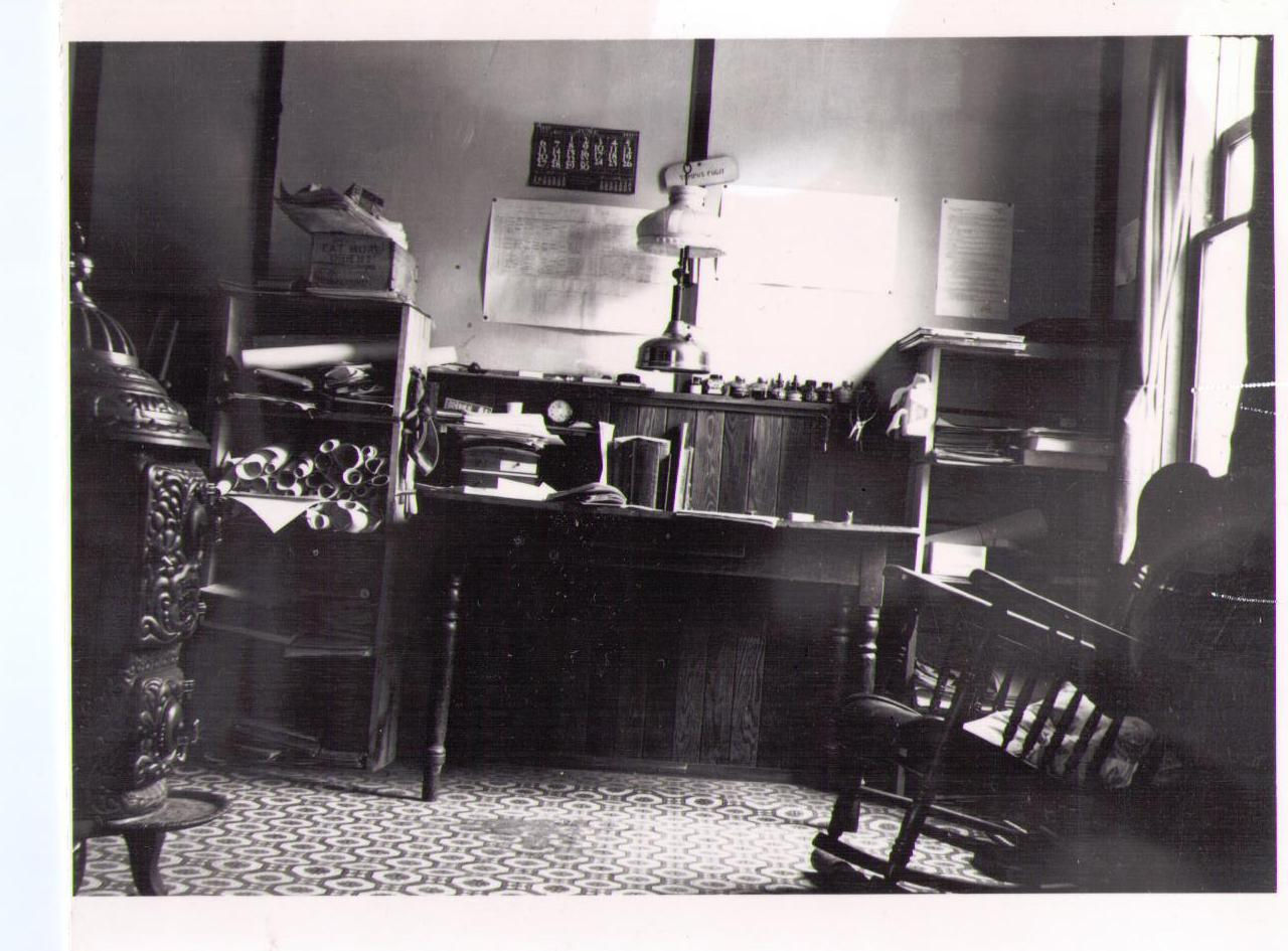 A picture we have of the interior of the house at one time