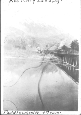 Kootenay Landing, Paddlewheeler & Train