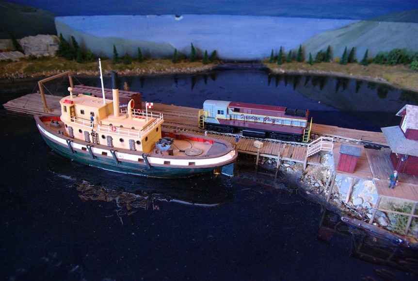 CPR Tugboat at Kootenay Landing