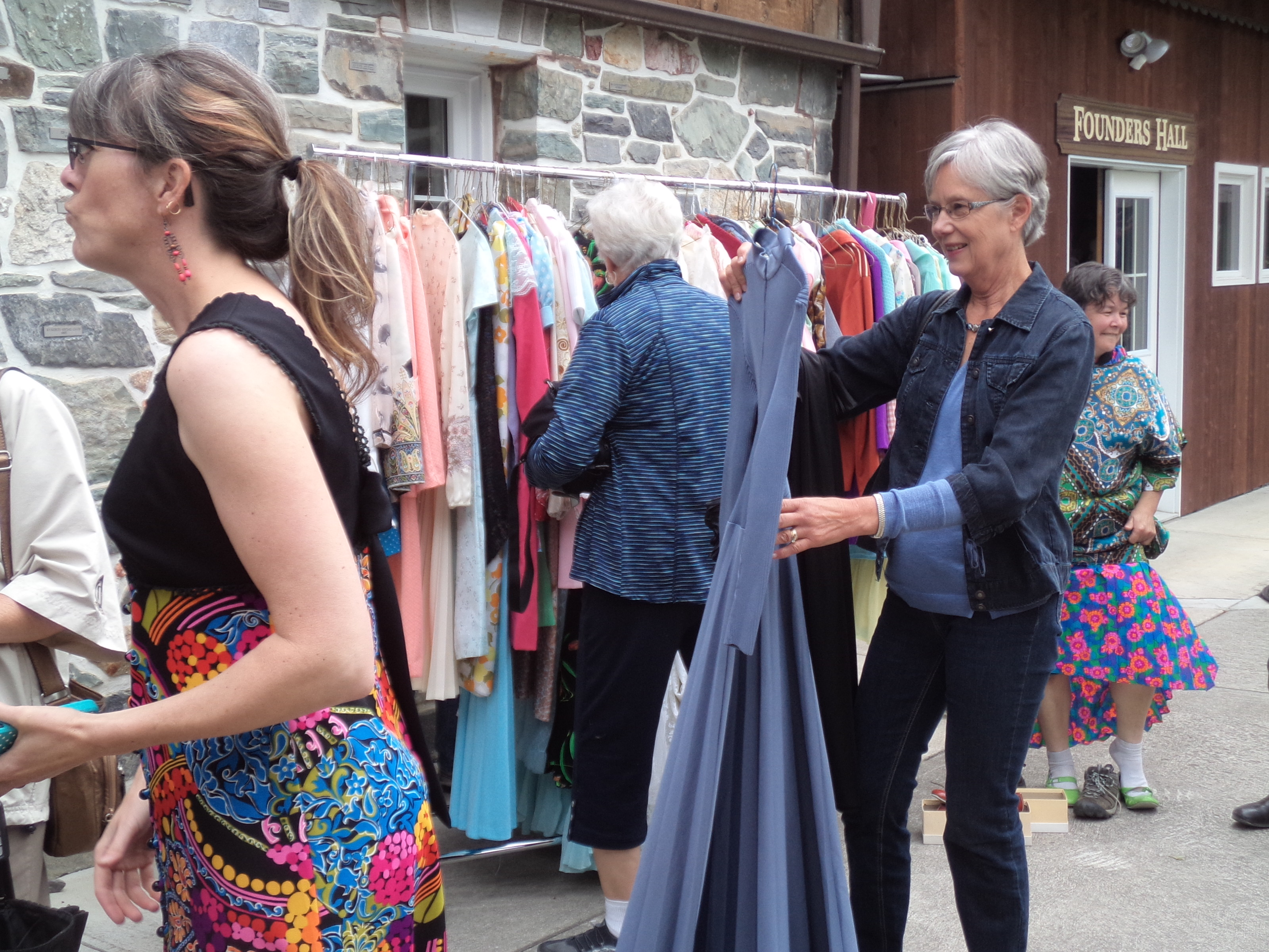 Costumes and vintage clothing at the Creston Museum - Art Show