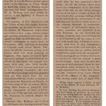Newspaper report of the deaths of Privates I. Simmons and W. McBean at Vimy Ridge. Creston Review, 18 May 1917
