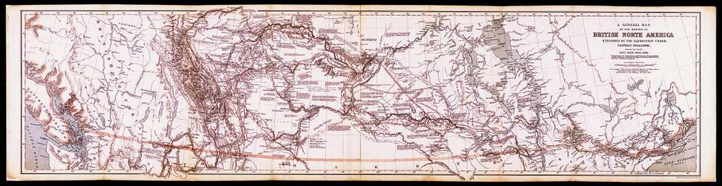 Palliser Expedition Map