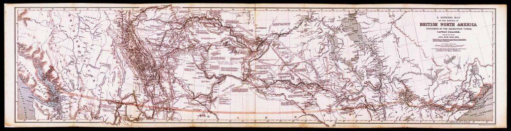 Palliser Expedition Map