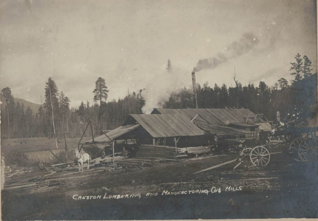 Creston Lumbering Company Sawmill, Creston BC