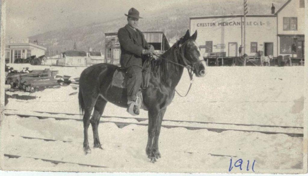 George Hood, 1911, Creston BC