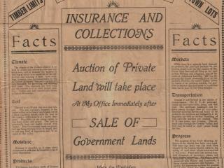 Land sales, Creston BC, 1908