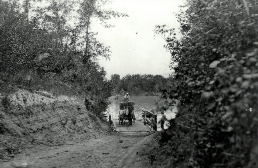 West Creston Ferry, near Creston BC, circa 1910