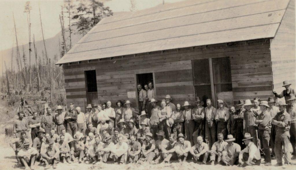 Camp Lister, 1919, near Creston BC
