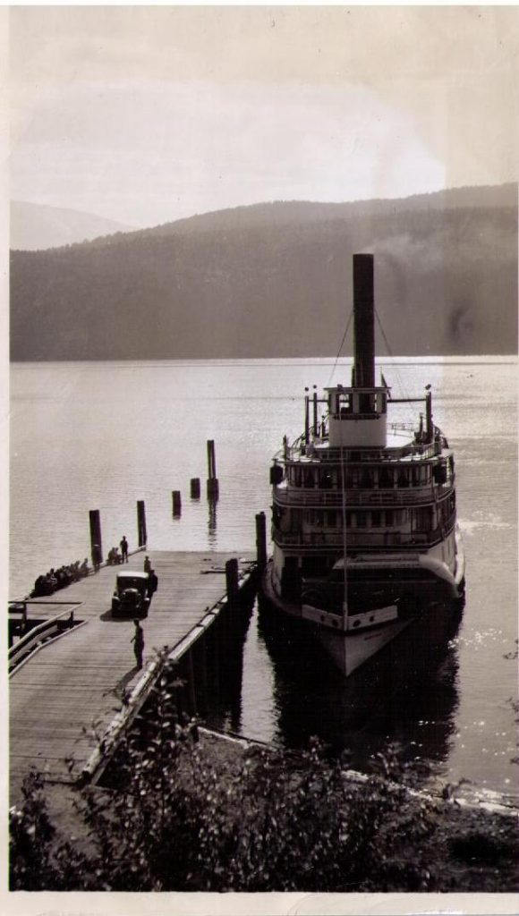 SS Nasookin, car ferry at Gray Creek