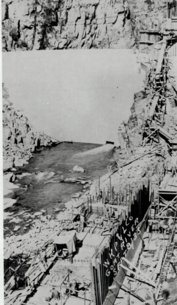 West Kootenay Power dam, Creston BC, 1933