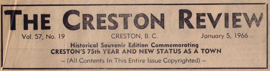 Town of Creston, Creston BC