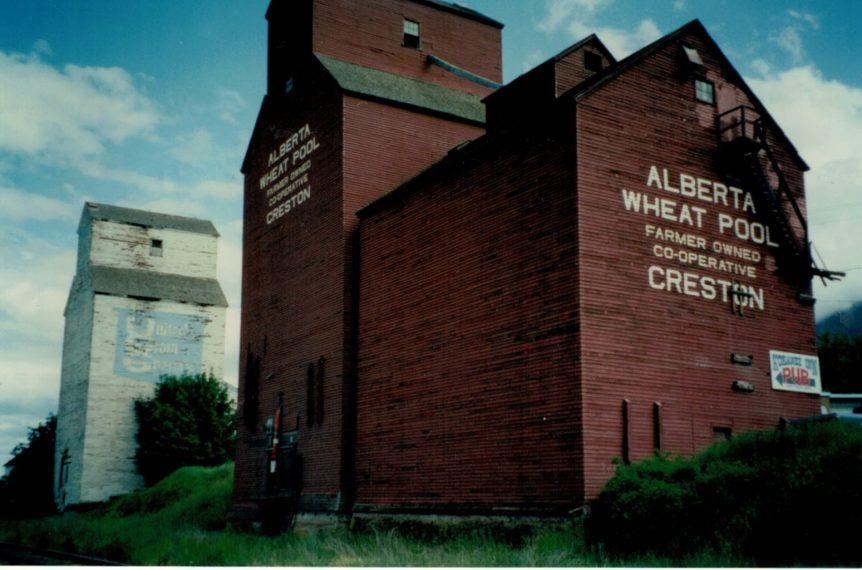 Grain elevators, Creston BC