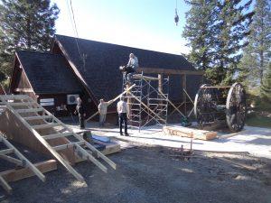 Logging arch, Creston Museum, Creston BC